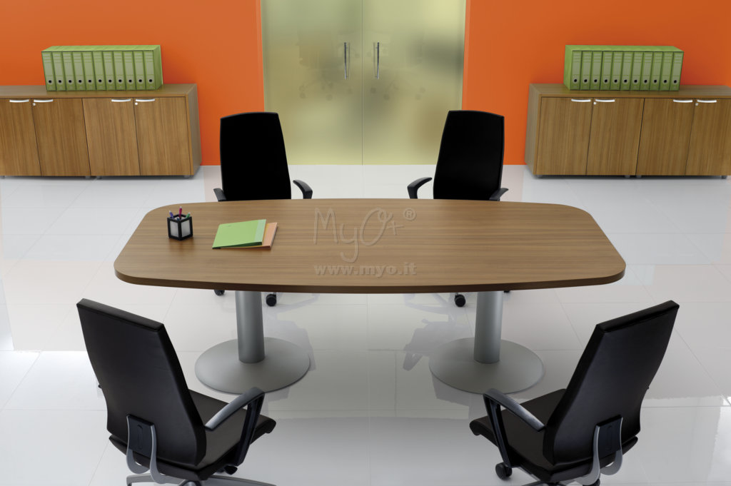 Scrivania ovale simple tavolo ovale per sale riunioni in melaminico con gambe a croce with - Tavolo riunioni ovale vetro ...