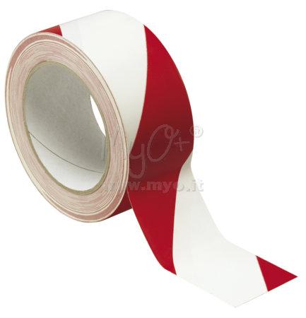 Nastro adesivo segnaletico bianco/rosso acquista in MyO S.p.a. Cancelleria forniture per ufficio